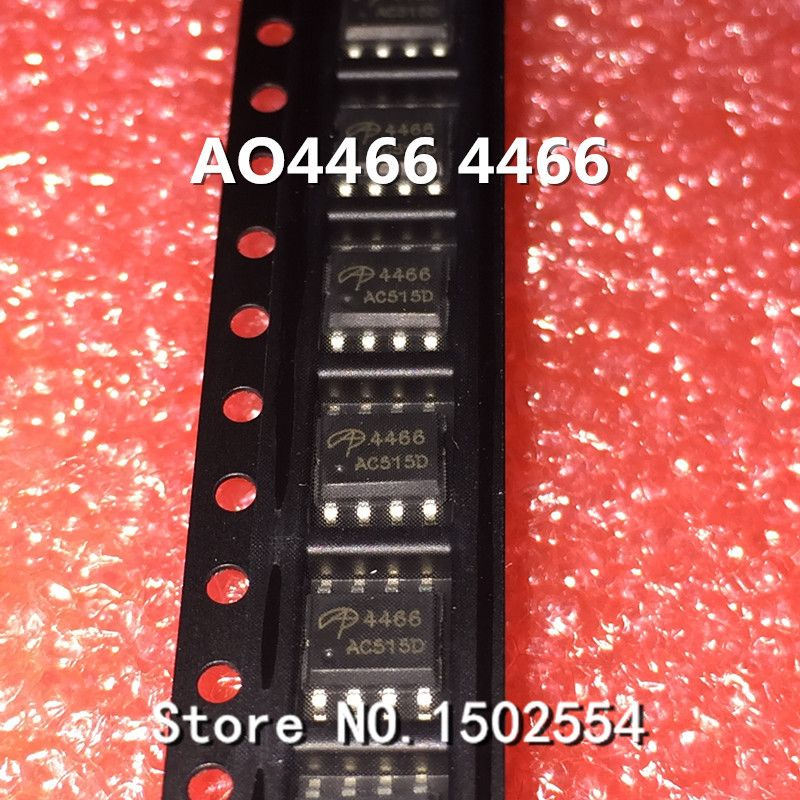 100PCS/LOT AO4466 4466 SOP-8 MOS FET N-Channel 30V 10A Brand new original