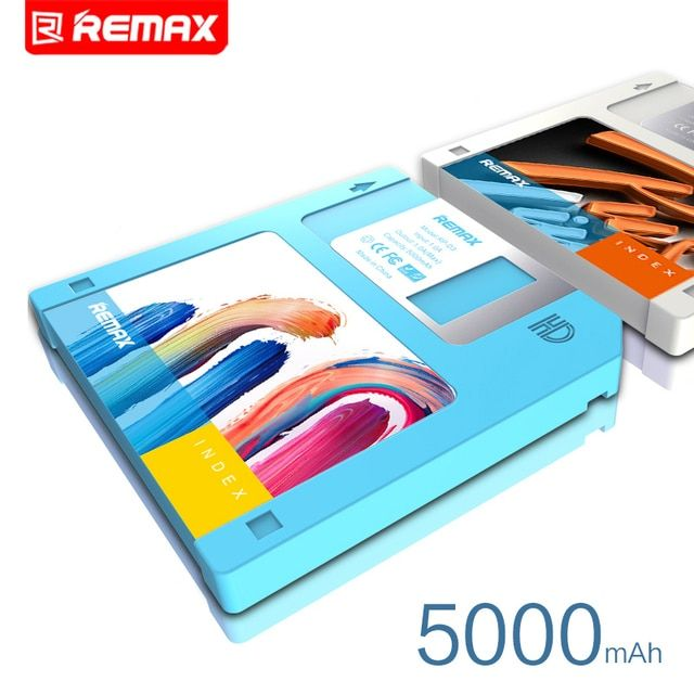 Remax RPP-17 5000mAh mobile phone power bank Floppy Disk Design mobile power bank gift 5000 mobile phone general charge treasure