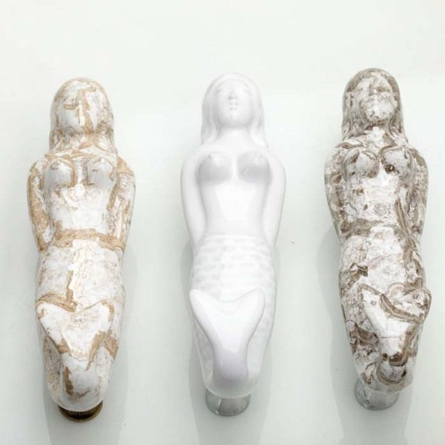5PCS 96mm Ceramic Mermaid Handle Furniture hardware Kitchen Cabinet Drawer Dresser Closet Door Pulls