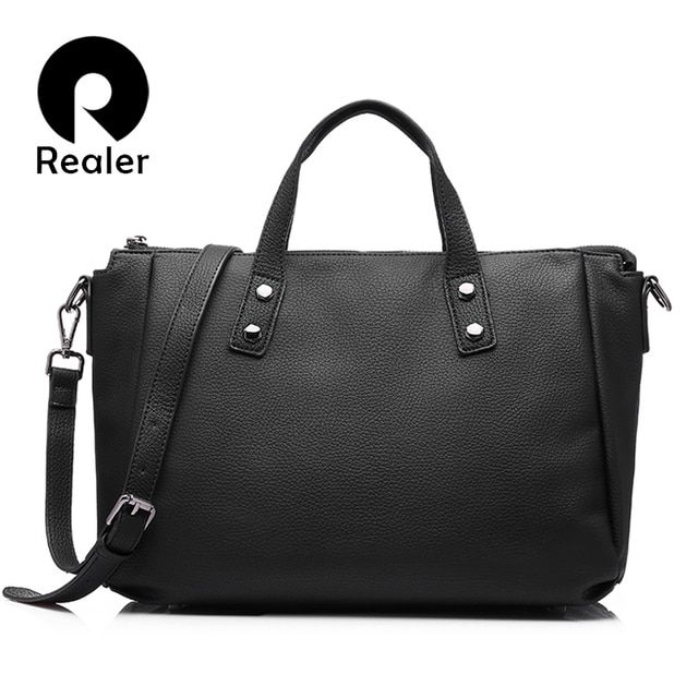 REALER new arrivals women fashion tote ladies women handbag high quality messenger bag pu leather