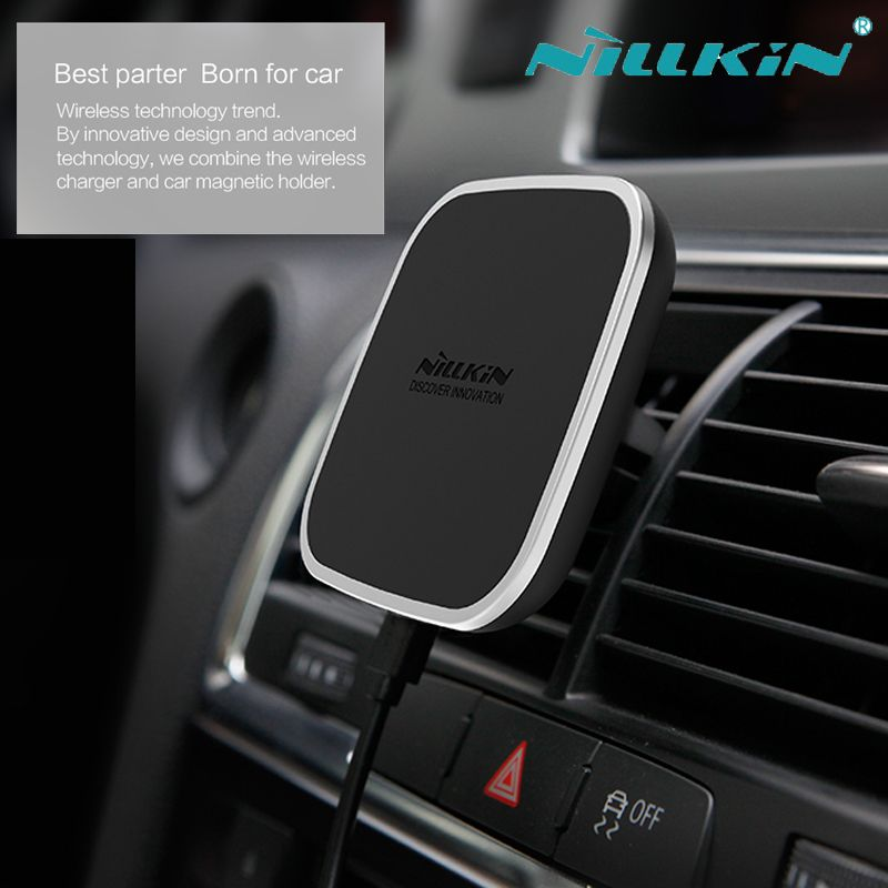 Nillkin Car Magnetic Qi Wireless Charger For iphone Xs Max XR X 8 Plus Vehicle Mount Charging Device for Samsung Note 9 8 S9 S8