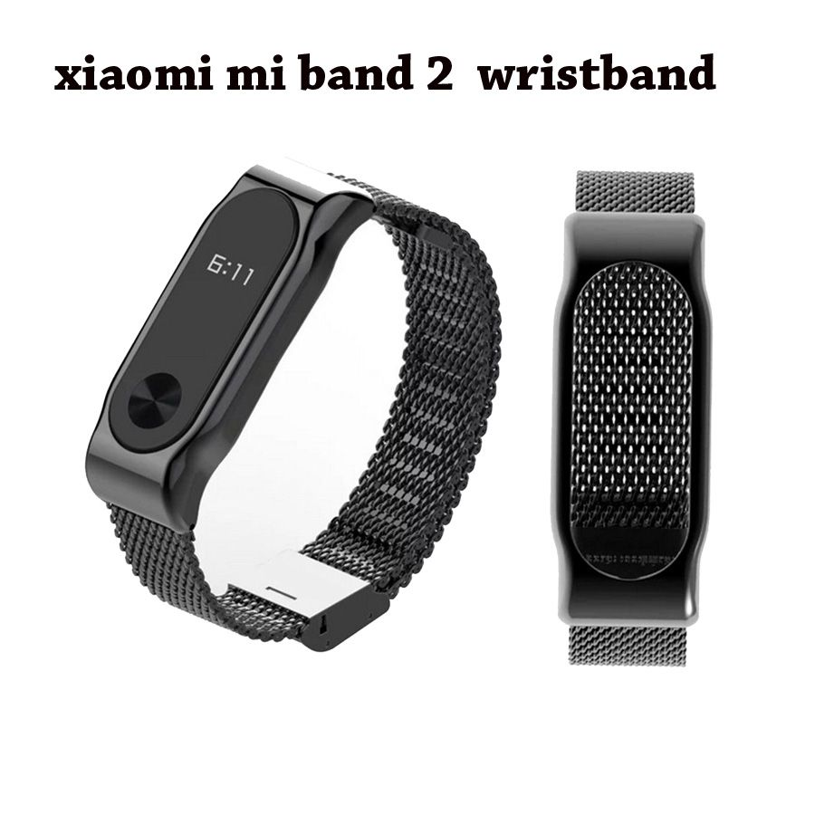 Metal Strap for Xiaomi Mi Band 2 Screwless Stainless Steel Bracelet Wristbands Replace Accessories for Mi Band 2 Bracelet
