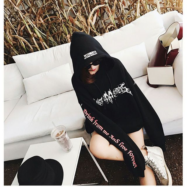 autumn EXO and bigbang same paragraph pentagram magic array embroidered harajuku loose gothic letters women hoodie sweatshirt