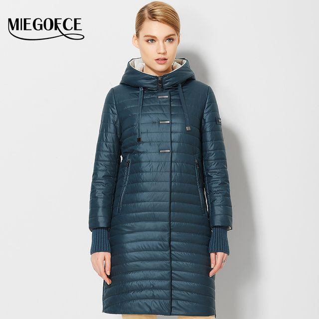 2017 Women's Spring Jackets Coats With Hood Fashion Windproof Womens Parkas High Quality Womens Quilted Coat MIEGOFCE Hot Sale