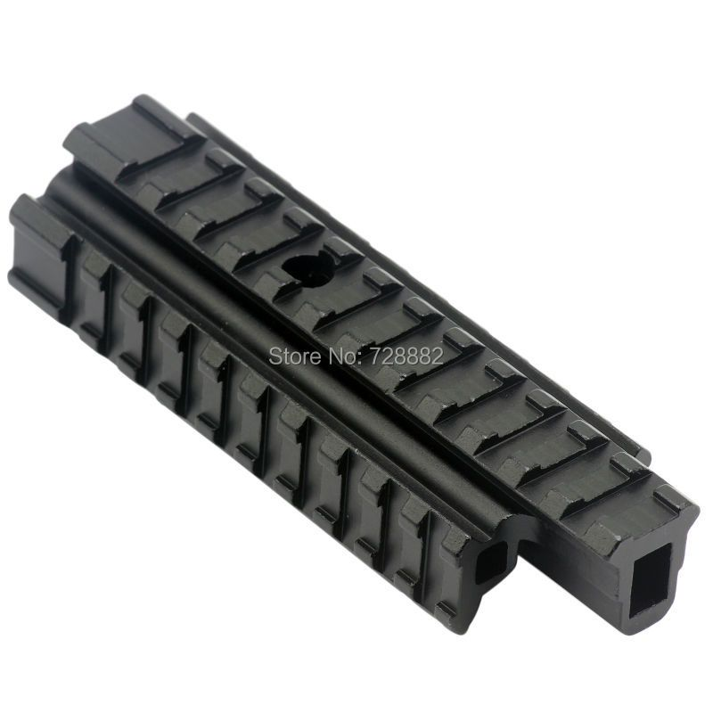 Hunting Tri Side Rail See Through Flat Top 20mm Weave Picatinny Rail Riser Base Carry Handle Rifle Mount Heavy Duty