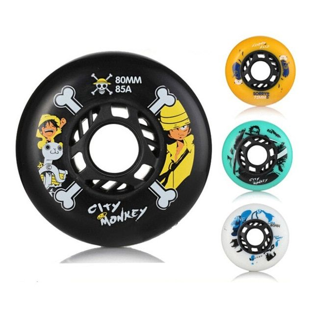 City Monkey Skate Wheels 85A Slalom/Braking Roller Skate Shoes Wheels SEBA Skates Wheels High Quality Roller Wheels