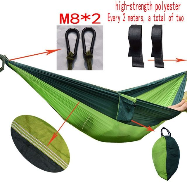 Superior quanlity Garden swing Sleeping bed single  hanging  portable hammock parachute nylon rede swing chair Camping hamaca