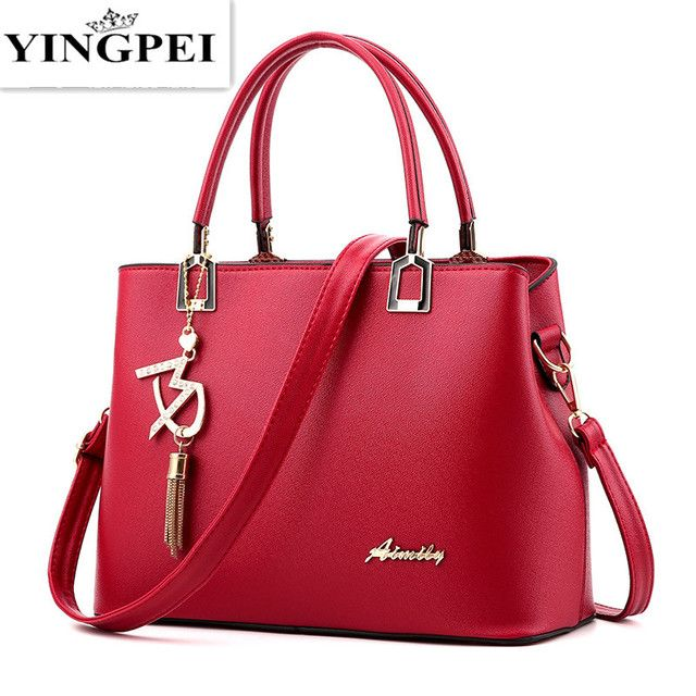 YINGPEI New Designer Women Bags Fashion Vintage PU Leather Handbags High Quatity Casual Shoulder Messenger Crossbody Totes