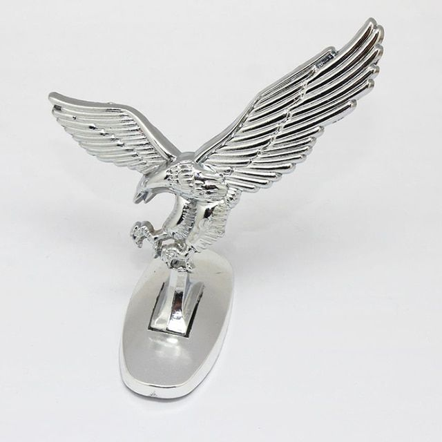 High Quality Vintage Universal 3D Eagle Car Logo Front Cover Bonnet Metal Hood S #LY880