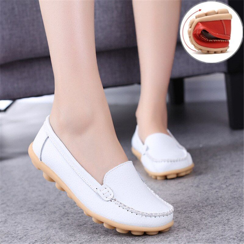 Women Flats Leather Shoes Loafers Casual Ladies Driving Flat Moccasins Shoes For Women Footwear Comfortable Soft Shoes DT916