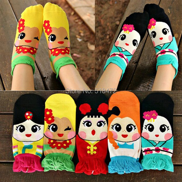 NEW!! Women Cute 3D cartoon Three-dimensional Princess Socks cute lovely female casual socks meias