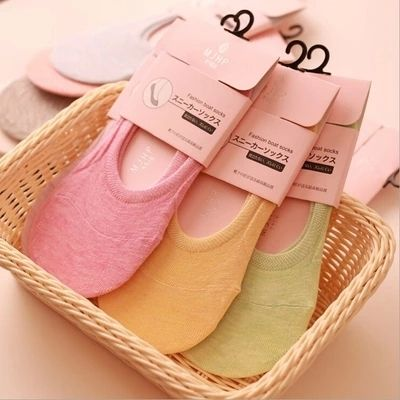 Free shipping  Wholesale 5 pairs = 1 lot  women sock short solid color cotton  summer  women's boat socks invisable