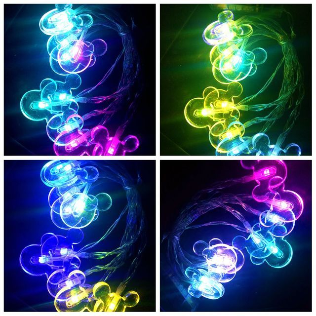 Girl Gift Light String Decor Mickey Mouse Kid Child Birthday 10 LED Carnival Christmas New Year Wedding Party Festival Light