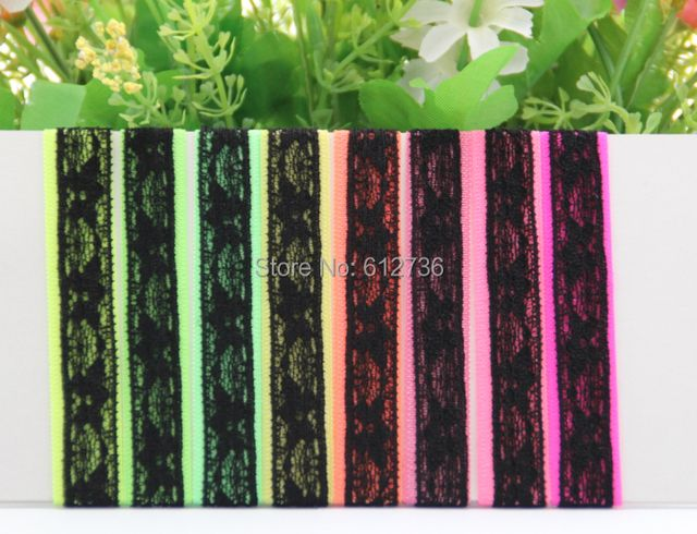 100pcs/lot New Arrival 16 Color FOE Black Lace Fold Over Elastic Hair Ties bracelet wristbands ponytail holder Free Shipping