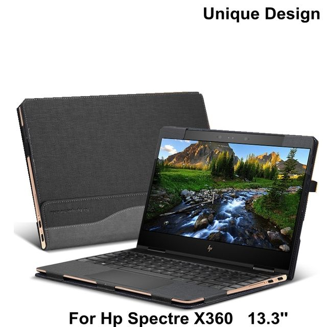 New Creative Design Case For Hp Spectre X360 13.3 Inch Laptop Sleeve Case PU Leather Protective Cover Stylus As Gift
