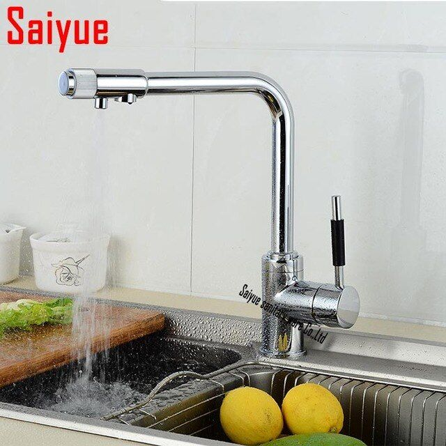 Retail & Wholesale brass kitchen faucet,multifunctional pure water faucet,drinking water  tap,kitchen sink water purifier mixer