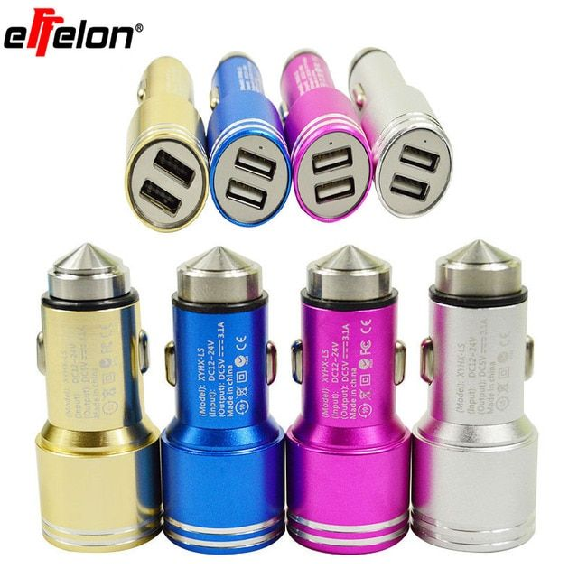 Effelon Car Charger 5V 2.1A USB Power Adapter Mobile Phone Travel Wall Charger for iPhone 4s 5 5s 6 Plus for iPad Air mini