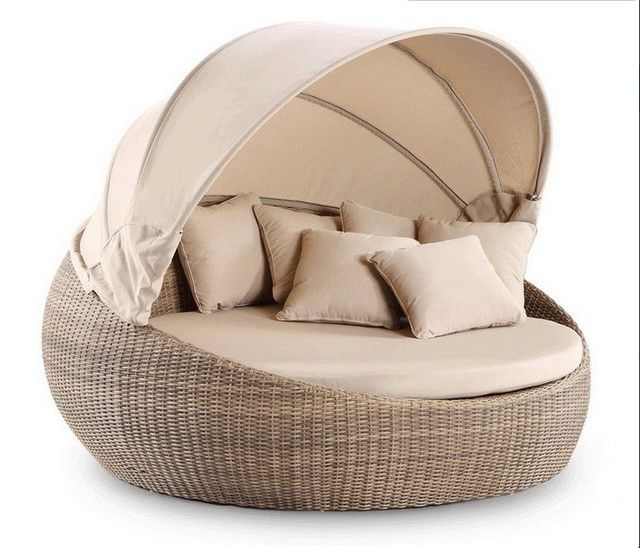 garden furniture wicker day bed outdoor royal round bed