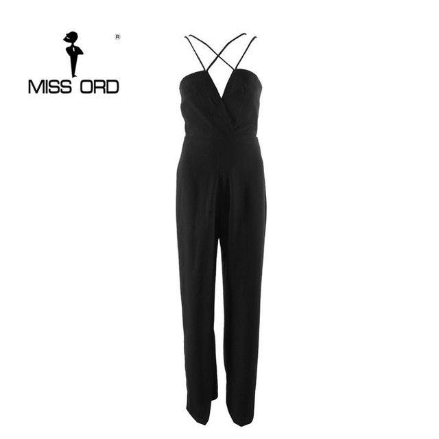 Free Shipping 2016 Fashion  CUT OUT stylish V-neck jumpsuit  FT716
