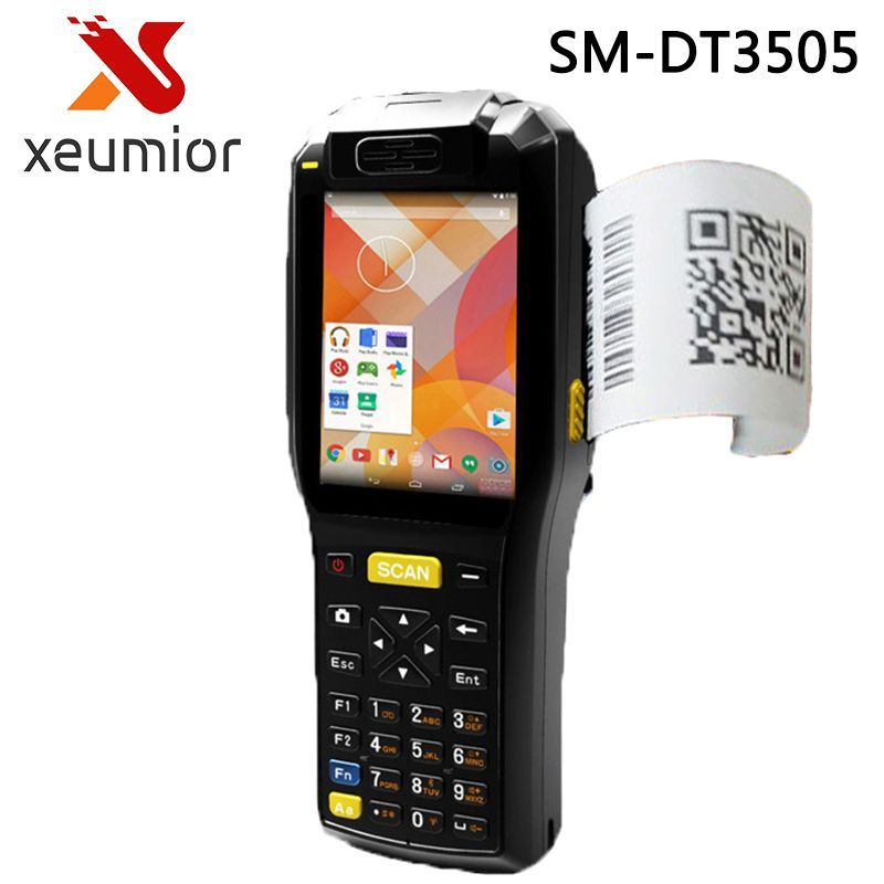 Industrial pda Android Mobile Terminal with Thermal printer Handheld Data Terminal with 1D 2D Bar Code Scanner Reader