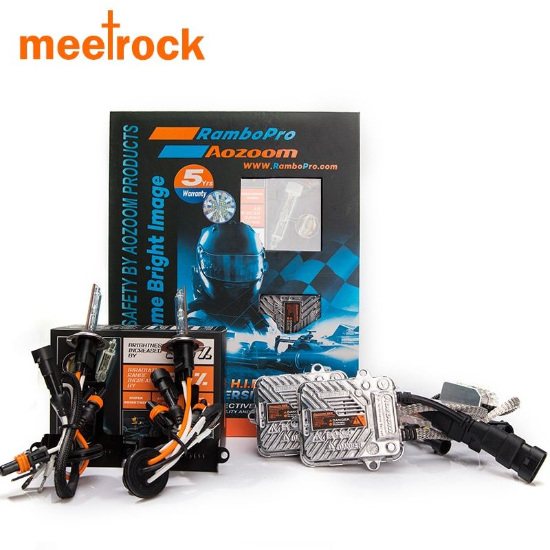 Meetrock  H7 H1 H4 H11 hb3 hb4 9005 9006 car headlamp automobiles auto headlight bulb DRL super  hid kit 5 years warra