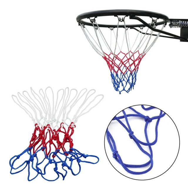YHX YHX 2016 NEW arrival  Red White Blue Basketball Net   Nylon Hoop Goal Rim Mesh Net