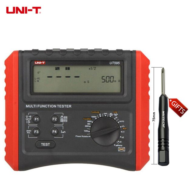DHL Free Shipping UNI-T UT595 Multifunction Loop Testers Earth Ground Line Loop Impedance Tester Insulation Resistance Meter