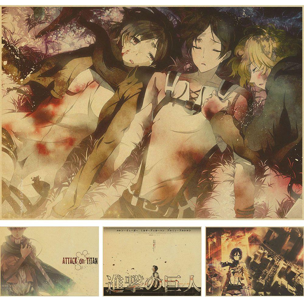 20 different designs Anime Posters Tokyo BLEACH Attack on Titan Ghoul Fate Zero Paintings Wall pictures 30x44cm