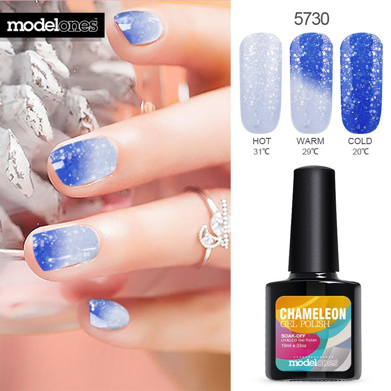 Modelones Newest 10ML Thermo Gel Varnish Soak Off Temperature UV Nail Gel Polish Led Thermal Change Color UV Nail Gel Lacquer