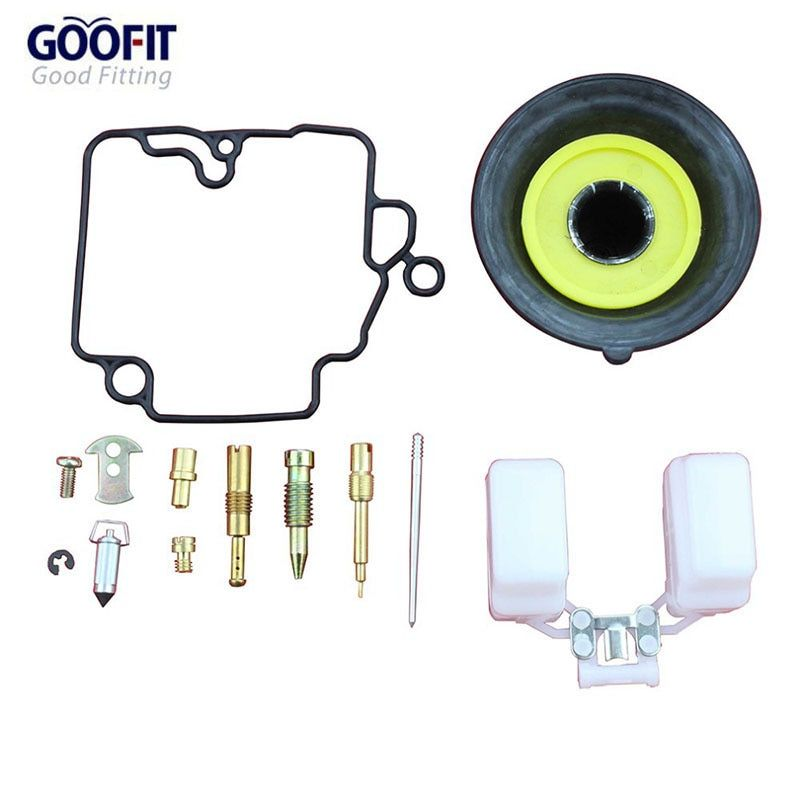 GOOFIT 18mm Motorcycle Carburetor Repair kit Rebulit Kits for GY6 50cc ATV Go Kart & Scooter TaoTao A012-032