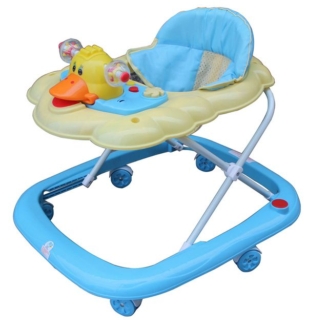 New Arrival Baby Walker Portable Light Weight Baby Toddler Walkers Anti Rollover Folding Easy With Music Toys Plate Andador