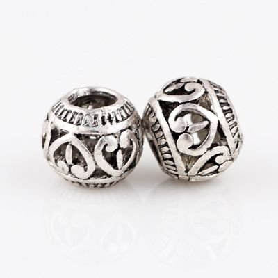Silver Beads Round shape lovely with heart bead Chamilia Spacer European Murano Czech Bead Charm Fit For Pandora Bracelet Charms