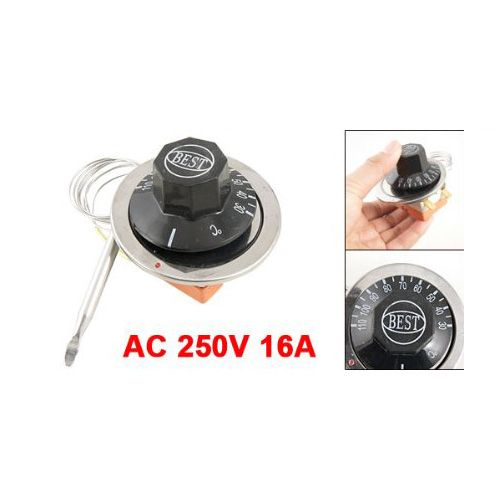 MYLB AC 250V 16A 30-110C Temperature Control Capillary Thermostat for Electric Oven