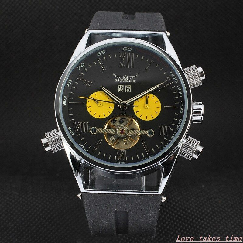 New Men Sports Watches Automatic Mechanical Wrist Watches Luxury Top JARAGAR Automatic Flying Tourbillon Watches