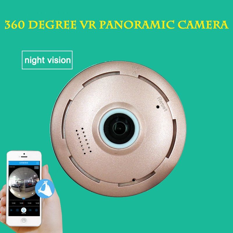 360 Degree Panoramic Camera IP 960P 1.3MP Home Security IP Camera Wifi Wireless Night Vision CCTV Surveillance Camera SD Card