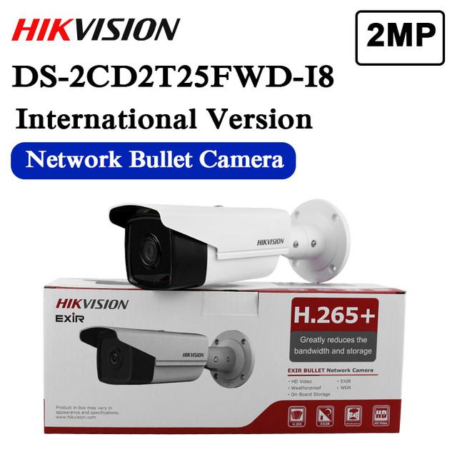 Free shipping english version DS-2CD2T25FWD-I8 replace DS-2CD2T35-I8 3MP Ultra-Low Light Network Bullet Camera 80M IR
