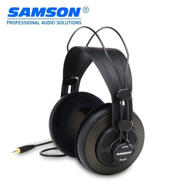 Original Samson SR850 professional monitoring headphone for studio/semi-open monitor headset one piece package