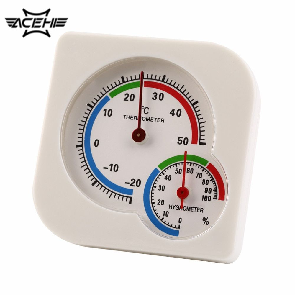 2017 Newest WS-A7 Multifunction Thermometer Indoor Outdoor Mini Wet Hygrometer Humidity Thermometer White Temperature Meter
