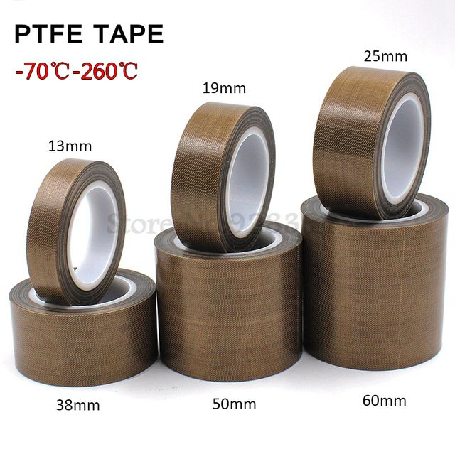 1 Roll High Temperature PTFE Teflon Tape 0.13mm x10M Choose Wide