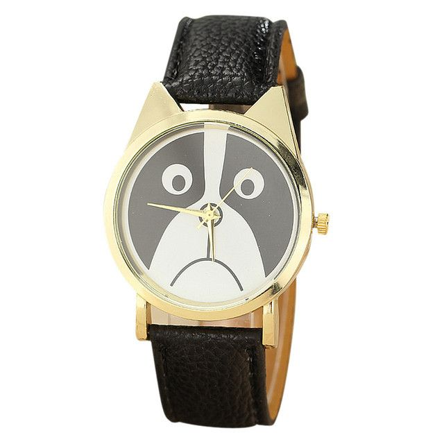 Gofuly 2017 Watches Top Luxury Panda Pattern Watch Women Leather Clocks Ladies Dress Watch Hour montre femme relogio feminino