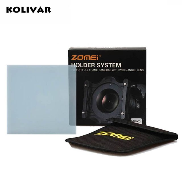 KOLIVAR Zomei Square Filter ND2 Optical Glass 100x100 Neutral Density Grey ND Filter for Cokin Z-PRO Series Lee Hitech Singh-Ray
