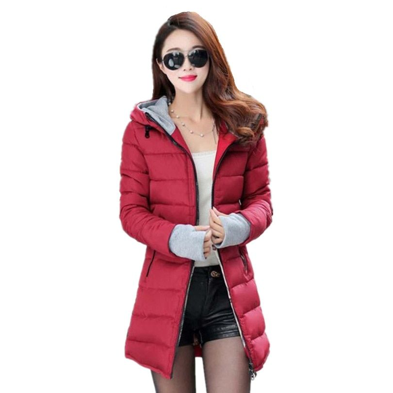2019 Winter Female Women Down Jacket Cotton Jacket Wadded Clothing Slim Plus Size M-XXXL Parkas 2018 Ladies Coats