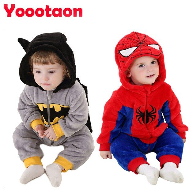 New spring baby clothes One-Pieces Cartoon Animal Jumpsuit  Flannel Baby Boy clothes costume Baby Girl Rompers
