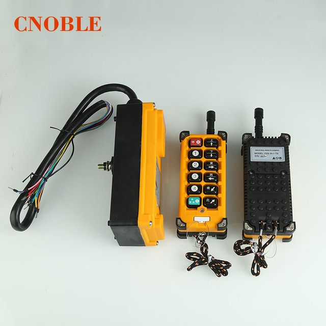 220VAC Wireless Crane Remote Control F23-A Industrial Remote Control Hoist Crane Push Button Switch 2 Transmitters + 1 Receiver