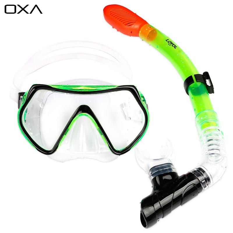 New Professional Antifog Scuba Diving Mask Snorkel Glasses Set Underwater Silicone Swimming mask swim eyewear