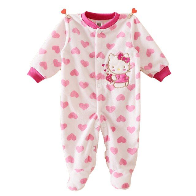 Unisex Baby Rompers Autumn Polar Fleece Baby Boy Girl Clothes Cartoon Newborn Baby Rompers Infant and Toddlers Overalls Products