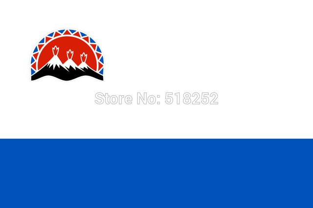 RU Kamchatka Krai Flag Russian State 3X5 FT Banner 100D Polyester 150x90cm flag 1646, free shipping