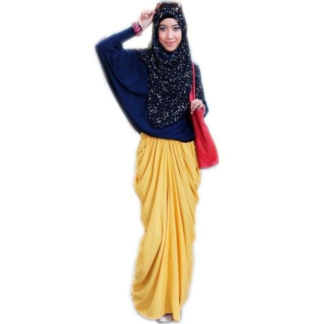 Special Design Muslim Style Women Skirts A Line Floor Length Long Maxi Skirt Pleated Yellow Chiffon Skirts Womens
