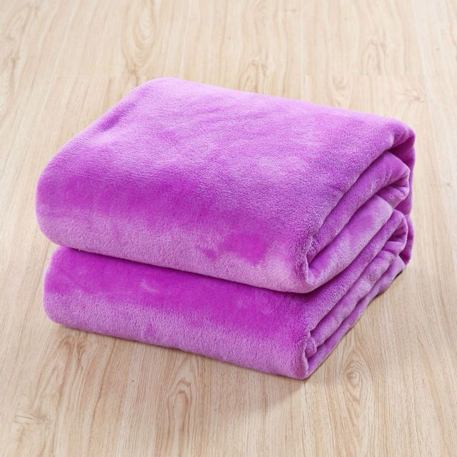 king size 220*240cm fleece blanket on the sofa /air /bed Throw solid color travel flannel blanket for beds coverlet cobertor