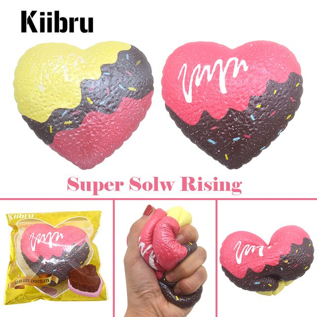 Kiibru Big Good Luck Chocolate Squishy Scented Super Slow Rising Soft Original Package Gift Kids Toy